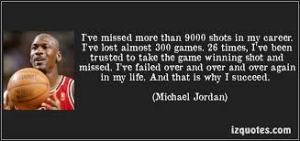 Michael Jordon - failure
