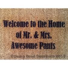Welcome mat - awesome pants