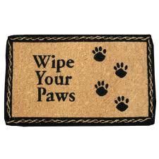 welcome - wipe your paws