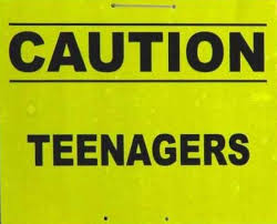 caution teenagers