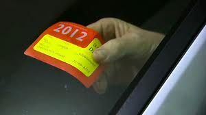 newer style rego sticker