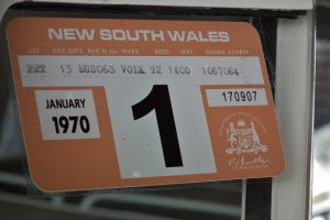old style rego sticker