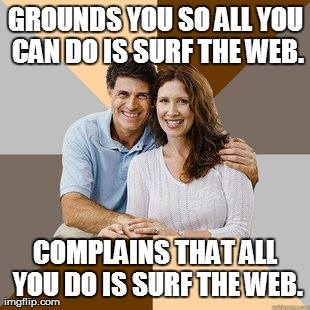 Scumbag parents - internet