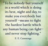 Being yourself battle