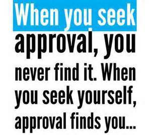seeking approval